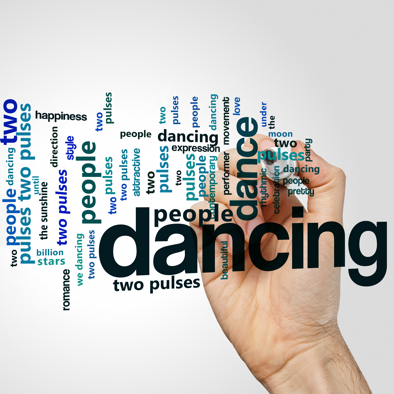 Dancing word cloud concept